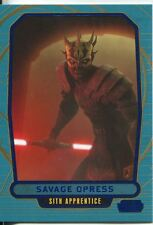 Star Wars Galactic Files Blue Parallel #236 Savage Opress
