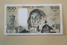 Billet 500 Francs Blaise Pascal 2-1-1992