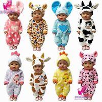 For Baby Born Dolls Clothes Cartoon Set For 18 inch Girl Doll Cute Animal Clothe