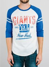 New York GIANTS Varsity Stripes Raglan LS T-Shirt by Junk Food NWT 65% off!