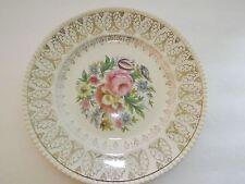 Gold Flora Vintage Plate Solian Ware Potter LTD Corbridge England Collectibles