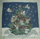 """VINTAGE ANGELS CHRISTMAS TAPESTRY FABRIC 16"""" X 16"""""""