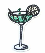 Cocktail Iron On Patch- Drinks Booze Novelty Funny Embroidered Applique Badge