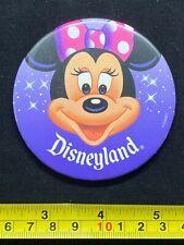 Disney Pin Button - Disneyland Minnie Mouse - Pink Bow