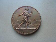 medaille  en bronze  concours race charolaise par lagrange   1883