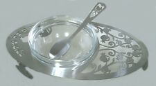 Honey Dish for the Jewish New Year Rosh Hashanah  Lazer cut with glass bowl NEW