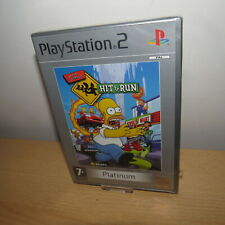Ps2 Simpsons Hit & and Run Plat Racing Adventure Game MINT Disc PlayStation PAL