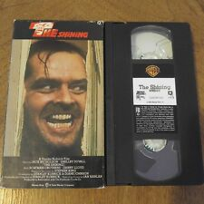 The Shining Vhs Warner Home Video Jack Nicholson Stanley Kubrick Horror