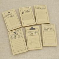 Mini Kawaii Kraft Paper Notepad Weekly Plan Notebook Diary Stationery Supplies