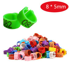 8x5mm Digital Chicks Rings 1~100 Numbered Poultry Leg Bands Bird Pigeon Parrot