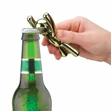 Umbra Drinking Buddy BRASS Plated Bottle Opener Opens bottles with his mouth