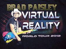 Brad Paisley 2012 Virtual Reality Tour Shirt Size Small Double Sided