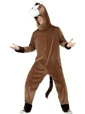 Adult's Horse Costume Mens Grand National Jockey Animal New Fancy Dress Outfit