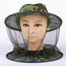 Head Face Protector Hat Cap Bug Bee Insect Mosquito Fly Resistance Net Mesh IB
