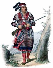 METAL FRIDGE MAGNET Seminole Warrior Tuko-See-Mathla Gun Native American Indian