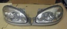 DAEWOO LANOS PAIR OF HEAD LIGHTS HEAD LAMPS LEFT + RIGHT  1997 - 2003 FIT