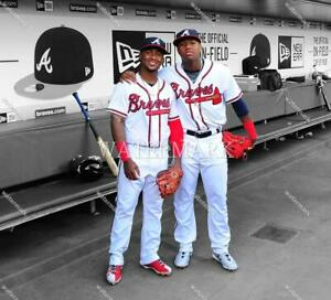 FB474 Ozzie Albies & Ronald Acuna Atlanta Braves Dugout 8x10 11x14 16x20 Photo
