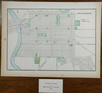 "SACRAMENTO 1902 Vintage Atlas Map 14""x11"" Old Antique DAVIS ROCKLIN ROSEVILLE"