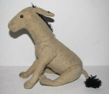 RARE EARLY c. 1910 STEIFF JOINTED BURLAP DONKEY (5228) w/ BUTTON No Reserve!