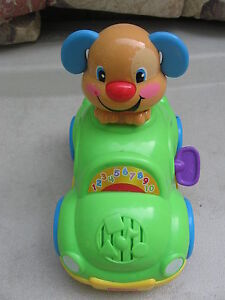 Fisher Price Laugh and Learn Puppy Learning Car VGC