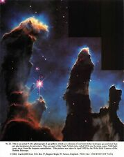 NASA Photographic Card Print of Gas Pillars of the Eagle Nebula M16 (2002)