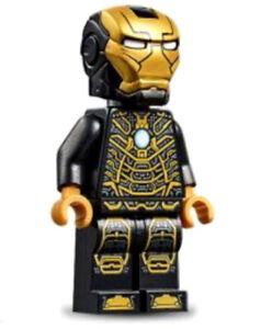 NEW LEGO IRON MAN MARK 41 Black Armor endgame 76125 clear head minifig figure