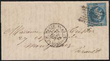 """Ballon monté """"La Ville de Florence"""" oblitéré 24/SEPT./1870 pour Montpellier"""