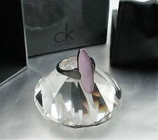 Ck39 Calvin KLEIN anello Continuity Argento Rose della rappresentazione gioielli pietra mis. 54