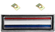 BADGE CONSOLE SUIT FORD FALCON XW XY GS RED, WHITE & BLUE STRIPE