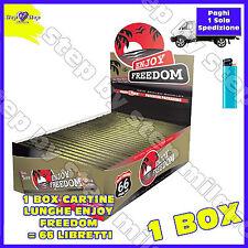 Cartine ENJOY FREEDOM LUNGHE Slim 66 pz King Size 1 box Cartina Lunga