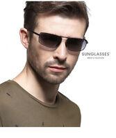 LE HD Polarized Driving Sunglasses Retro UV 400 Square Men Frameless Outdoor