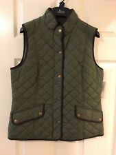 WOMEN'S G.H. BASS & CO GRAPE LEAF LIGHTWEIGHT QUILTED VEST SIZE S NWT