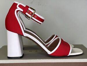 Marni Red/White Sandal Heel EU38.5 (Bay3I) RRP$790