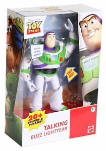 """Mattel Toy Story TALKING BUZZ LIGHTYEAR 7"""" Action Figure (20+ Sounds & Phrases!)"""