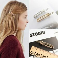 2X Simple Design Pin-shaped Hair Pin Barrette Gold Clip Hairpin Stick Paperclip