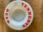 Tennet's Beer Round White w/ Red Lettering Ashtray Advertising