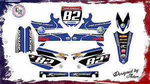 YZ125 YZ250 Restyled Plastics - GRAPHICS KIT. Customisable motocross graphics