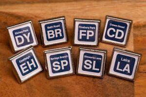 British Rail Shed/Depot code pin badge (All depots available)