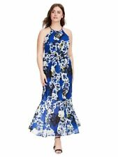 NEW CITY CHIC BLUE SPANISH ROMANCE MAXI DRESS SIZE SMALL 16