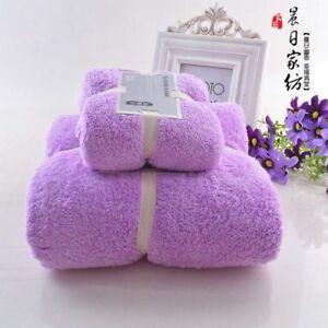 2pcs Towel Set Bath Face Hand Microfiber Towel Quick Dry Soft Towels Adult Kids