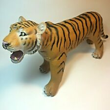 """Realistic Soft Plastic Tiger Big Cat Wild Animal Toy Figure by MISSI - 14"""" Long!"""