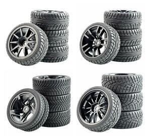 1/10 Onroad Touring Rc Car Wheel & Rubber Tires For Traxxas Nitro 4tec 4-tec 2.0