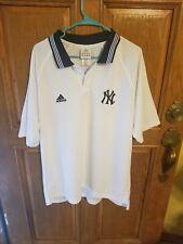 Adidas Large White New York Yankees Mens Polo