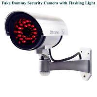 Dummy Fake Security Camera CCTV 30pcs False IR LED W/ Flashing Red LED Light US