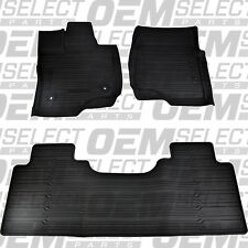 OEM NEW 15-17 Ford F-150 Super Cab TRAY Floor Mat Kit BLACK Rubber All Weather