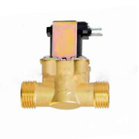 Copper Water Solenoid Valve Electric DC N/C Air Inlet Flow Switch 1/2Inch #D