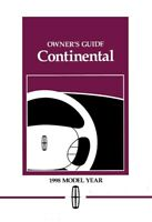 1998 Lincoln Continental Owners Manual User Guide Operator Book Fuses Fluids