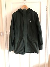 Fred Perry Mens Hooded Parka / Dark Green
