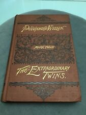 Pudd'n Head Wilson Those Extraordinary Twins By Mark Twain Hartford 1st Edition