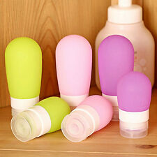 Purple L Silicone Travel Packing Press Bottle for Lotion Shampoo Bath Container
